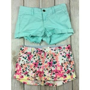 LOT of 2 SO Brand Shorty Shorts Floral Colorful